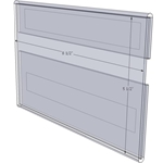 """WM8555CT - 8.5"""" X 5.5"""" (Landscape - C-Style with Tape) - Wall Mount Acrylic Sign Holder - Economy - .08 Inch Thickness"""
