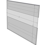 """WM1411CV - 14"""" X 11"""" (Landscape - C-Style with Velcro) - Wall Mount Acrylic Sign Holder - Standard - 1/8 Inch Thickness"""