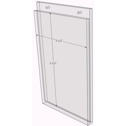 8 x 10 wall sign holder (Portrait - Flush Sign Holder Only) - Wall Mount Acrylic Sign Holder - Economy - .08 Inch Thickness
