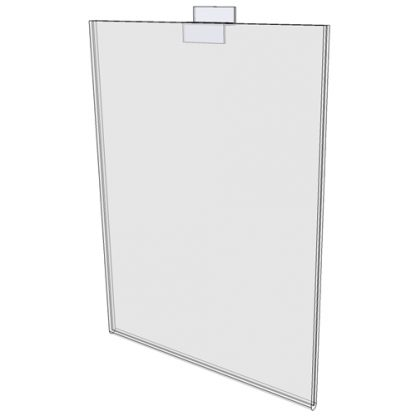 """WM1114FSW - 11"""" X 14"""" sign holder (Portrait - Flush with Slat Wall) - Wall Mount Acrylic Sign Holder - Standard - 1/8 Inch Thickness"""