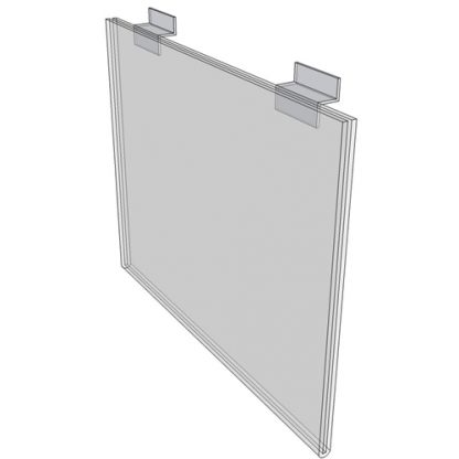 """WM1711FSW - 17"""" X 11"""" sign holder (Landscape - Flush with Slat Wall) - Wall Mount Acrylic Sign Holder - Standard - 1/8 Inch Thickness"""