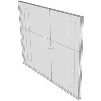 "WM1185FT - 11"" X 8.5"" (Landscape - Flush with Tape) - Wall Mount Acrylic Sign Holder - Standard - 1/8 Inch Thickness"