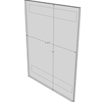"""WM8511FT - 8.5"""" X 11"""" (Portrait - Flush with Tape) - Wall Mount Acrylic Sign Holder - Standard - 1/8 Inch Thickness"""