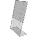 "TB5585 - 5.5"" X 8.5"" tilt back (Portrait) - Tilt Back Acrylic Sign Holder - Economy - .08 Inch Thickness"