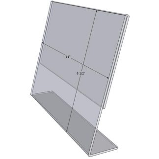"TB1185 - 11"" X 8.5"" angle tilt (Landscape) - Tilt Back Acrylic Sign Holder - Economy - .08 Inch Thickness"