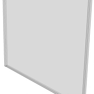 "WM6040F - 6"" x 4"" (Landscape - Flush Sign Holder Only) - Wall Mount Acrylic Sign Holder - Standard - 1/8 Inch Thickness-0"