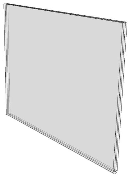 """WM6040F - 6"""" x 4"""" (Landscape - Flush Sign Holder Only) - Wall Mount Acrylic Sign Holder - Standard - 1/8 Inch Thickness-0"""