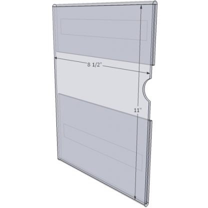"WM8511CT - 8.5"" X 11"" (Portrait - C-Style with Tape) - Wall Mount Acrylic Sign Holder - Standard - 1/8 Inch Thickness"