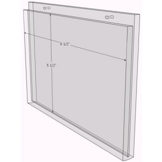 8.5 x 11 wall sign holder (Portrait - Flush Sign Holder Only) - Wall Mount Acrylic Sign Holder - Standard - 1/8 Inch Thickness