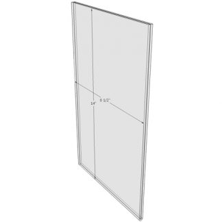 8.5 x 14 wall sign holder (Portrait - Flush Sign Holder Only) - Wall Mount Acrylic Sign Holder - Standard - 1/8 Inch Thickness