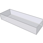"""2223 - 20"""" X 8"""" X 2"""" - Counter Top Without Feet"""