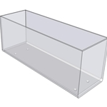 "2227 - 12"" X 4"" X 4"" - Counter Top With Feet"