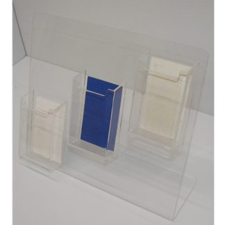 3 Pocket Vertical Business Card Holder
