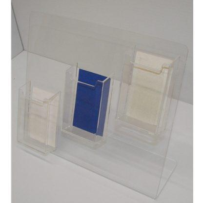 3 Pocket Vertical Business Card Holder