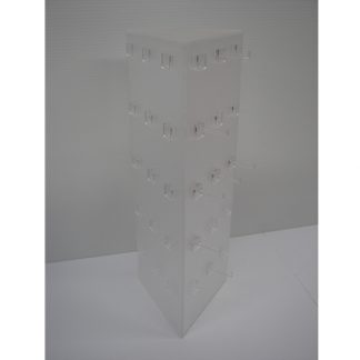 3 Sided Triangle 45 Peg Frosted Display - Without Base