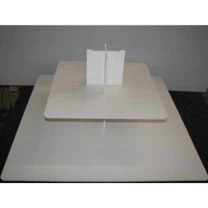 Square Cake Risers - Black Foam PVC