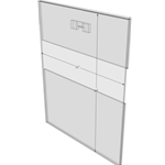 "WM1114CST - 11"" X 14"" (Portrait - C-Style with Saw Tooth) - Wall Mount Acrylic Sign Holder - Standard - 1/8 Inch with Horizontal Business Card Holder"