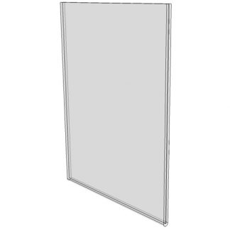 5 x 7 wall sign holder (Portrait - Flush Sign Holder Only) - Wall Mount Acrylic Sign Holder - Standard - 1/8 Inch with Horizontal Business Card Holder
