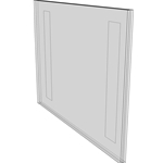 "WM1411FT - 14"" X 11"" (Landscape - Flush with Tape) - Wall Mount Acrylic Sign Holder - Standard - 1/8 Inch with Vertical Business Card Holder"