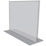 """OB7050 - 7"""" X 5"""" countertop sign holder (Landscape) - Standard - 1/8 Inch with Brochure Pocket"""