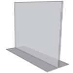 "OB1411 - 14"" X 11"" countertop sign holders (Landscape) - Standard - 1/8 Inch with Horizontal Business Card Holder"