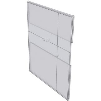 "WM8511C - 8.5"" X 11"" wall mounted (Portrait - C-Style Sign Holder Only) - Wall Mount Acrylic Sign Holder - Standard - 1/8 Inch Thickness"