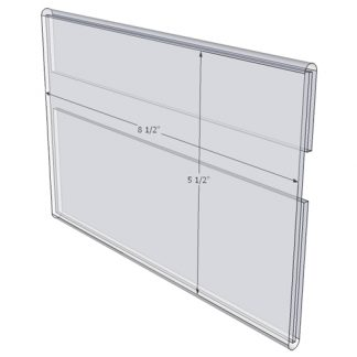 "WM8555C - 8.5"" X 5.5"" wall mounted (Landscape - C-Style Sign Holder Only) - Wall Mount Acrylic Sign Holder - Standard - 1/8 Inch Thickness"