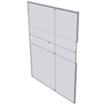"WM1824C - 18"" X 24"" (Portrait - C-Style with Keyholes) - Wall Mount Acrylic Sign Holder - Standard - 1/8 Inch with Brochure Pocket"