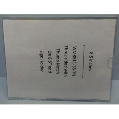 """WM8511F3STN - 8.5"""" X 11"""" (Portrait - Flush """"Mini Pocket"""" Sign Holder) - With Velcro"""