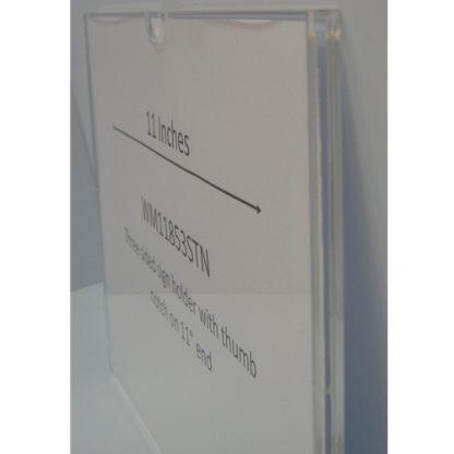 "WM1185F3STN - 11"" X 8.5"" (Landscape - Flush ""Mini Pocket"" Sign Holder) - With Velcro"