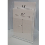"FSBH85112T - 9"" X 12"" Portrait - With Horizontal Business Card Holder"