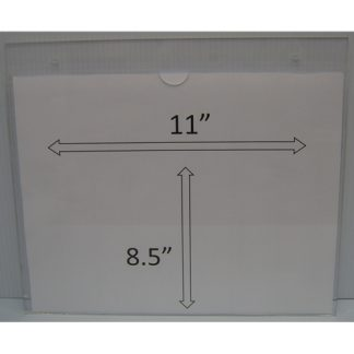 "WM1185S3STN - 11"" X 8.5"" (Landscape - ""Mini Pocket"" Sign Holder with Screw Holes) - Default"