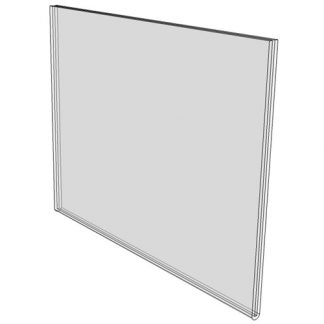 28 x 22 wall mounted sign holder (Landscape - with Screw Holes) - Wall Mount Acrylic Sign Holder - Standard - 1/8 Inch with Horizontal Business Card Holder