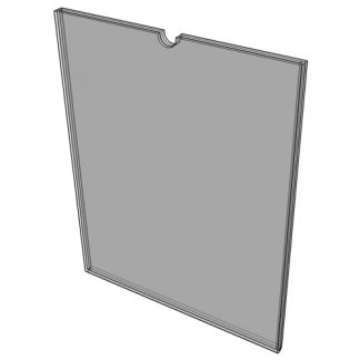 "WM1711F3STN - 17"" X 11"" (Landscape - Flush ""Mini Pocket"" Sign Holder) - With Velcro"