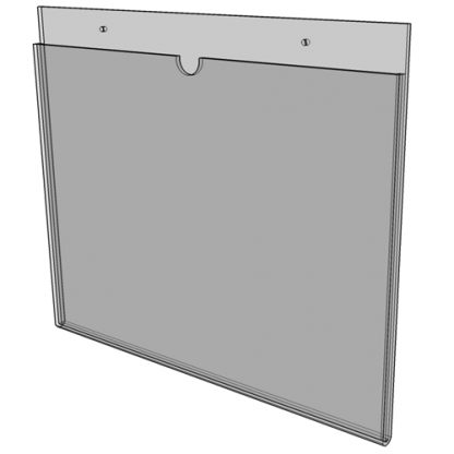 """WM1711S3STN - 17"""" X 11"""" (Landscape - """"Mini Pocket"""" Sign Holder with Screw Holes) - Without Tape"""