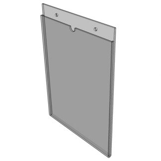 "WM1117S3STN - 11"" X 17"" (Portrait - ""Mini Pocket"" Sign Holder with Screw Holes) - Without Tape"