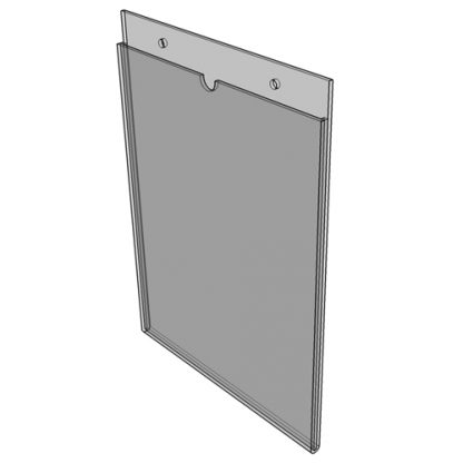 """WM1117S3STN - 11"""" X 17"""" (Portrait - """"Mini Pocket"""" Sign Holder with Screw Holes) - Without Tape"""