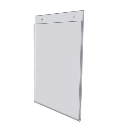 """2.5"""" X 3.5"""" - wall mount sign holder (Portrait - with Screw Holes)-0"""