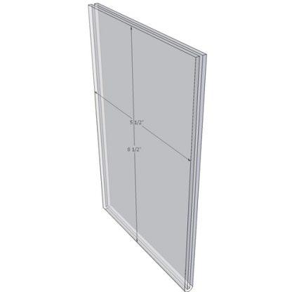 5.5 x 8.5 wall sign holder (Portrait - Flush Sign Holder Only)-0