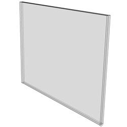 6 x 4 wall sign holder (Landscape - Flush Sign Holder Only)-0