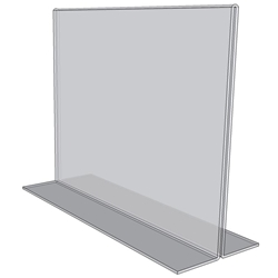 "OB7050 - 7"" X 5"" countertop sign holder (Landscape)-0"