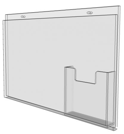 """17"""" x 11"""" - wall mount sign holder (Landscape - with Screw Holes)-4958"""