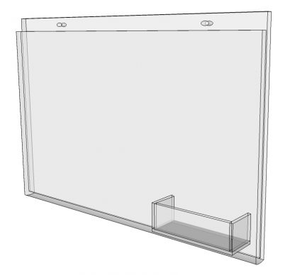 """17"""" x 11"""" - wall mount sign holder (Landscape - with Screw Holes)-4959"""