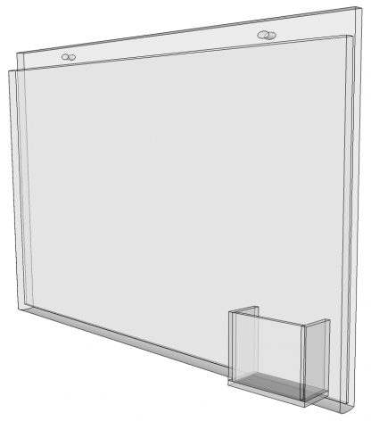 """17"""" x 11"""" - wall mount sign holder (Landscape - with Screw Holes)-4960"""