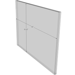 11 x 8.5 wall sign holder (Landscape - Flush Sign Holder Only)-0
