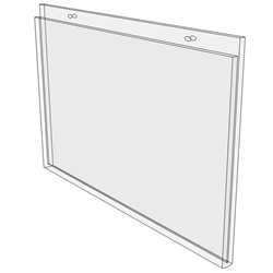 7 x 5 wall mount sign holder (Landscape - with Screw Holes)-0