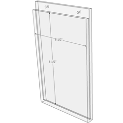 5.5 x 8.5 wall mount sign holder (Portrait - with Screw Holes)-0