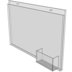 11 x 8.5 wall mount sign holder (Landscape - with Screw Holes)-4662