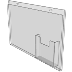 11 x 8.5 wall mount sign holder (Landscape - with Screw Holes)-4664