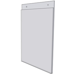 8 x 10 wall mount sign holder (Portrait - with Screw Holes)-0